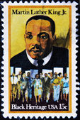 Stamp shows Martin Luther King — Stock Photo