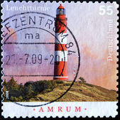 GERMANY - CIRCA 2008: A stamp printed in Germany shows Amrum lighthouse, circa 2008 — Stock Photo