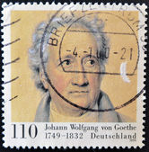 GERMANY - CIRCA 1999: stamp printed by Germany, shows Johann Wolfgang von Goethe, circa 1999. — Stock Photo
