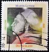 GERMANY- CIRCA 1996: A stamp printed by Germany, shows Martin Luther, circa 1996. — Stock Photo