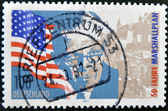 GERMANY- CIRCA 1997: stamp printed by Germany, shows flag and Marshall, circa 1997. — Stock Photo