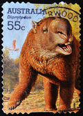 AUSTRALIA - CIRCA 2008: A stamp printed in Australia shows a diprotodon, circa 2008 — Stock Photo