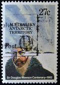 AUSTRALIA - CIRCA 1982: A stamp printed in Australian Antartic Territory dedicated to Sir Douglas Mawson, circa 1982 — Stock Photo