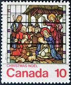 канада - около 1976: штамп напечатан канады, показывает рождество, около 1976 — Стоковое фото