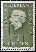 Stamp shows image of Queen Juliana — Stock Photo