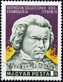 Mostrar la estampilla ludwig van beethoven, compositor — Foto de Stock