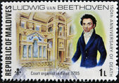 Stamp shows Beethoven, — Stock Photo