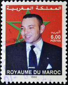 Stamp shows the current King of Morocco, Mohamed VI, son of Hassan II — Stock Photo
