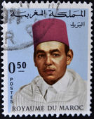 Stamp shows image of the portrait King Hassan II — Stock Photo