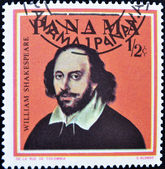 Stamp shows William Shakespeare — 图库照片