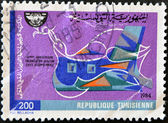 Stamp commemorating the anniversary of the international civil aviation — Stock Photo