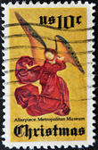 Stamp shows Angel from Perussis altarpiece — Stock Photo