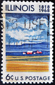 Stamp dedicated to the State Illinois — Stock Photo