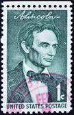 Stamp shows Lincoln — Stock Photo