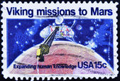 Stamp shows Viking missions to Mars — Stock Photo