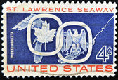 Stamp dedicated to St Lawrence Seaway — Foto Stock