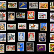 Christmas collection of stamps of the United States — Stock Photo