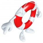 Lifebuoy Mascot Figure — Stock Photo #7928010