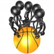 Basketball Team — Stock Photo #7929238