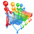 Spectrum Shopping - Stock Photo
