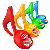 Spectrum Singing Music Notes — Stock Photo