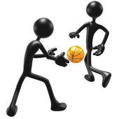 Basketball Back Pass — Stock Photo