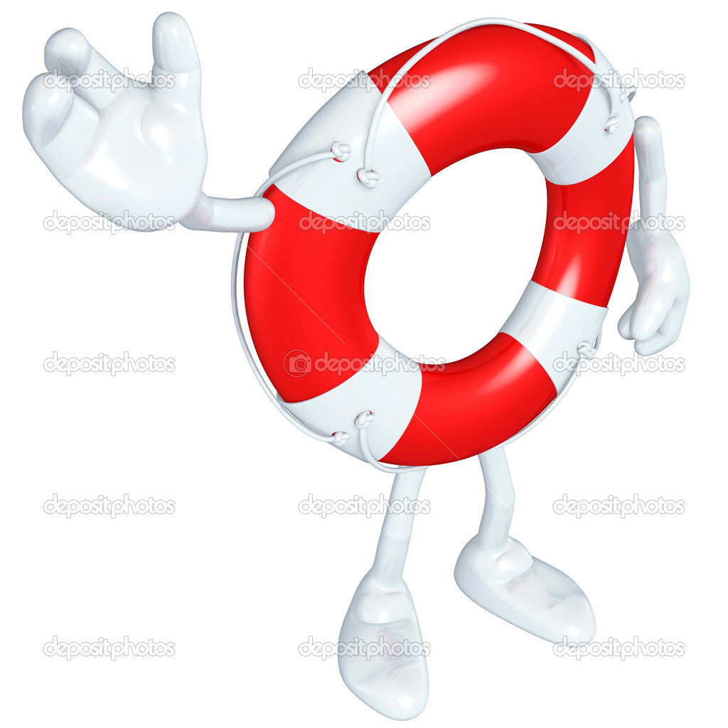 Lifebuoy Mascot Figure — Stock Photo #7927817