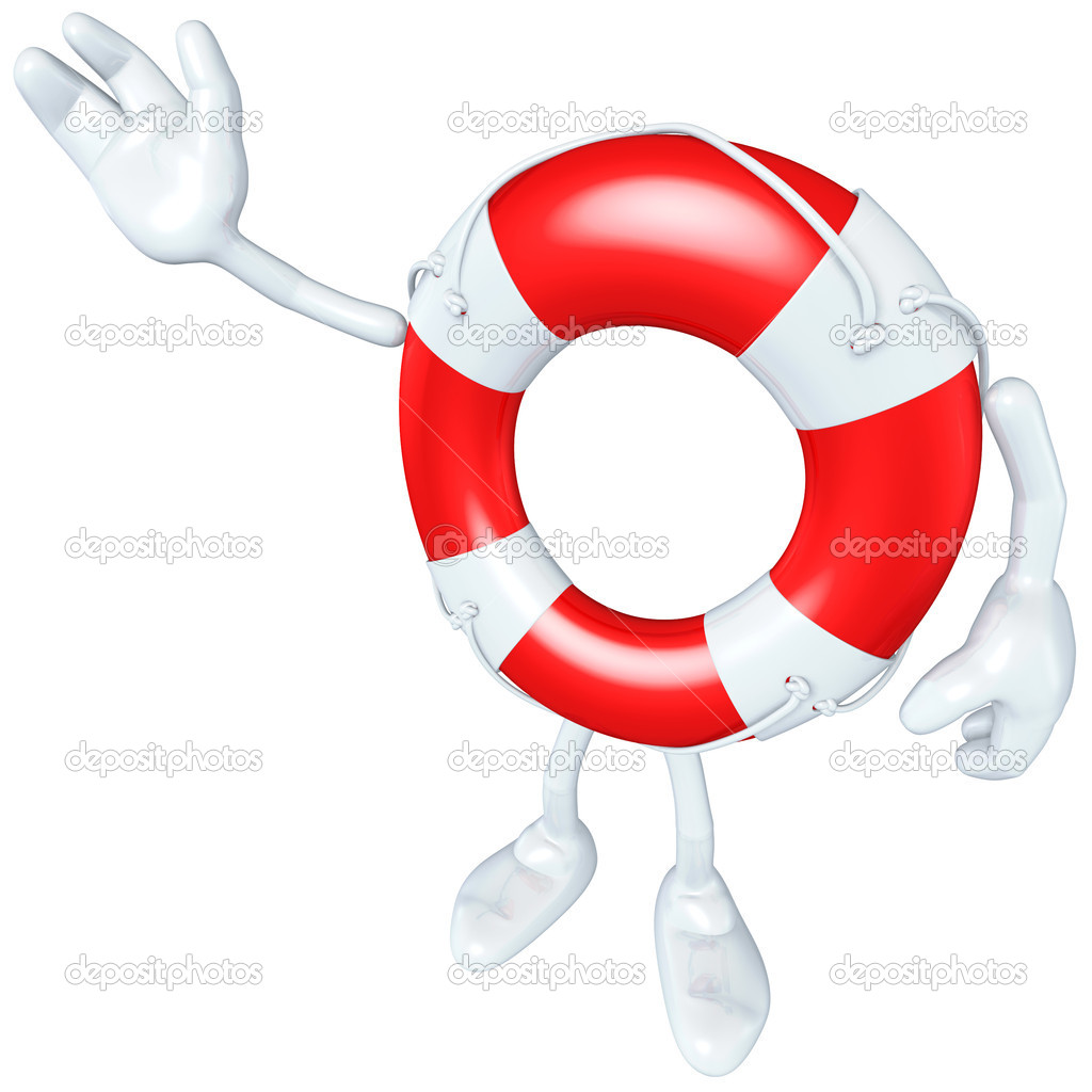 Lifebuoy Mascot Figure — Stock Photo #7927837
