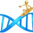 Surfing DNA — Stock Photo
