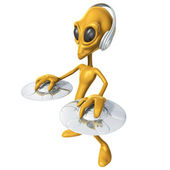 Alien DJ — Stock Photo