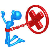 Chained To Rejection — Stock Photo
