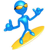 Hang Loose Surfer — Stock Photo