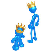 Original and Cheap Knock Off King — Stock Photo