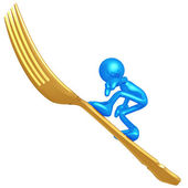 Fork Surfing — Stock Photo