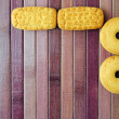 Stock Photo: Biscuits on purple bamboo place mat, breakfast or tetime