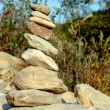 Zen stones close to river, concept of balance — Stock Photo