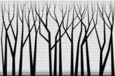 Silhouettes of trees — Stock Vector