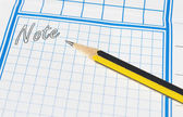 Pencil for notes — Foto de Stock