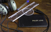Pilot logbook — Stock Photo