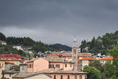 Village before the storm — Stock Photo