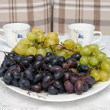 Stock Photo: Grapes on the table