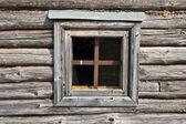 Window wooden hut — Stock Photo