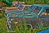 Abandoned cars — Stock Photo