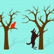 Barking Up The Wrong Tree Idiom — Image vectorielle
