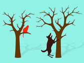 Barking Up The Wrong Tree Idiom — 图库矢量图片