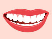 Smiling Mouth Healthy Teeth — Stock Vector