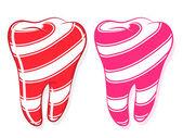 Dente dolce caramella a strisce denti idioma — Vettoriale Stock
