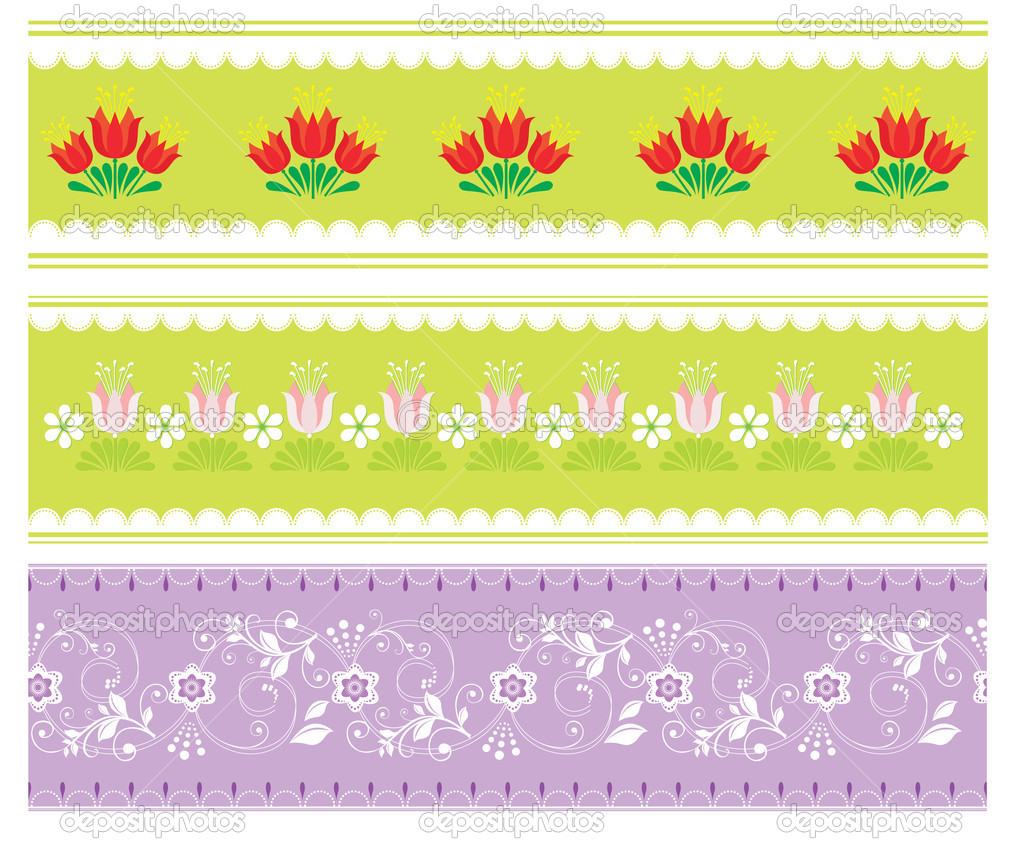 Set of three decorative strips  — Stock Vector #7477372