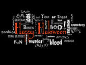 Happy Halloween typography — Stock Photo