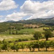 Landscape between Lazio and Umbria (Italy) at summer — Stock Photo